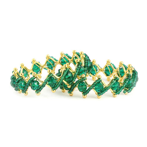 Girl's Fancy Bangles 2 Pcs - Green - test-store-for-chase-value