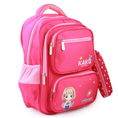 Kids School Bag (1677) - Pink