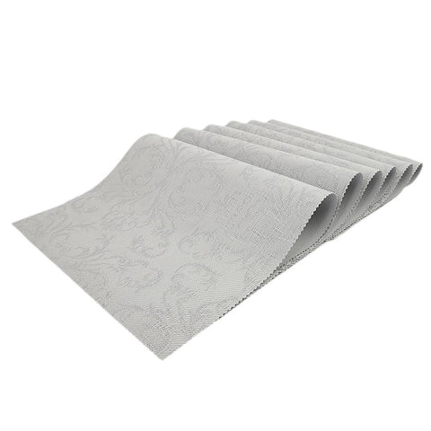 Dining Table Mats 6 Pcs - Silver
