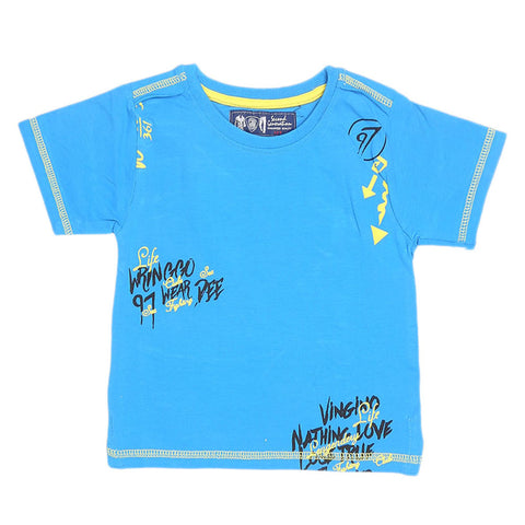 Boys Half Sleeves T-Shirt - Blue - test-store-for-chase-value