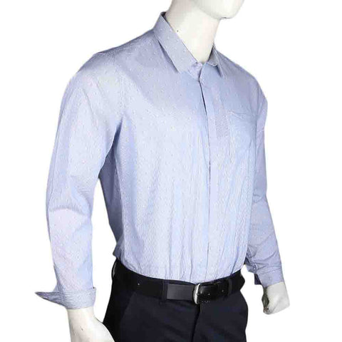 Men's Business Casual Shirt - Light Blue