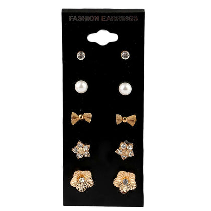 Women's Ear Tops - 5 Pieces