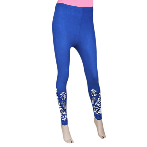 Women's Printed Tight- Blue