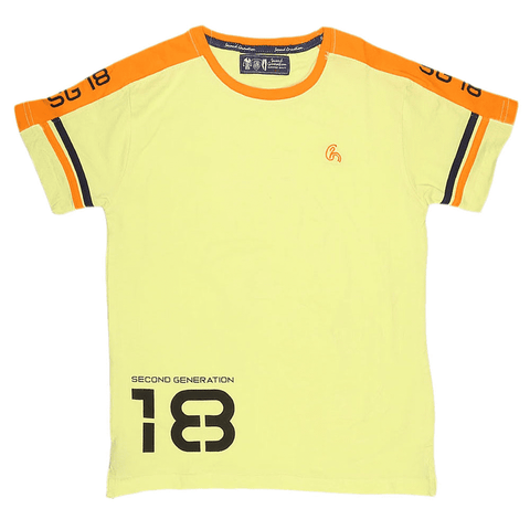 Boys Half Sleeves T-Shirt - Yellow - test-store-for-chase-value