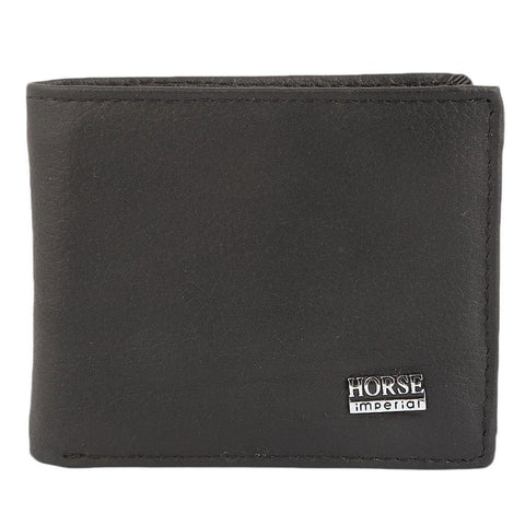 Men's Leather Wallet - Black - test-store-for-chase-value