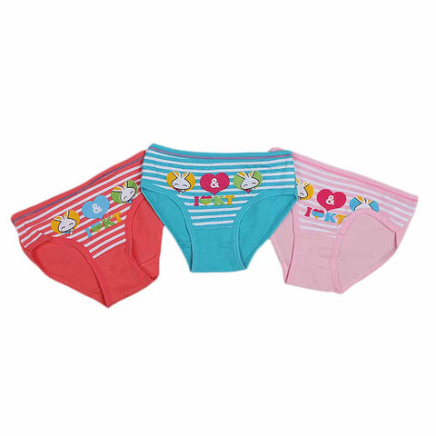Girls Panty 3 Pcs - Multi