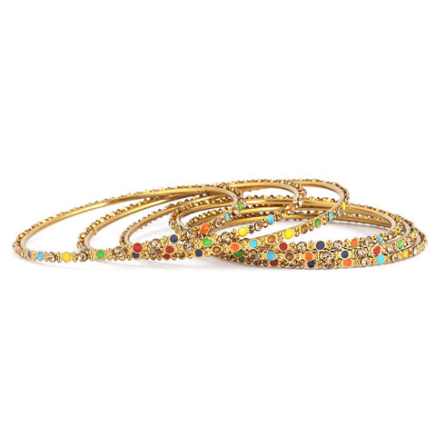 Women's Fancy Bangles 6 Pcs - Multi - test-store-for-chase-value