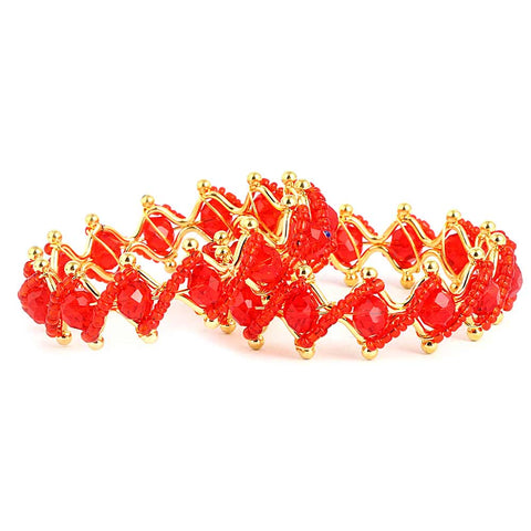 Girl's Fancy Bangles 2 Pcs - Red - test-store-for-chase-value