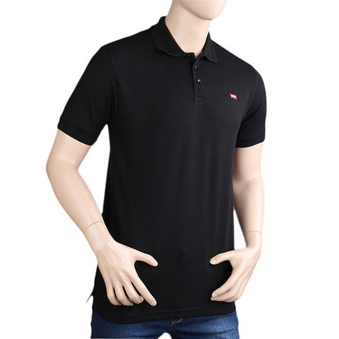 Men's Half Sleeves Polo T-Shirt - Black