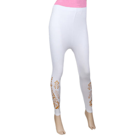 Women's Printed Tight- White