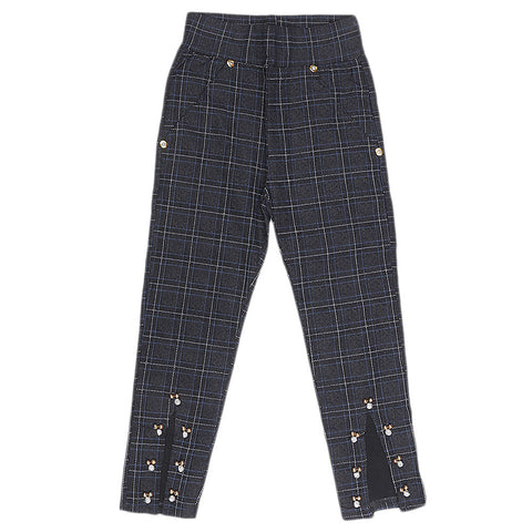 Girls Cotton Pant - Black