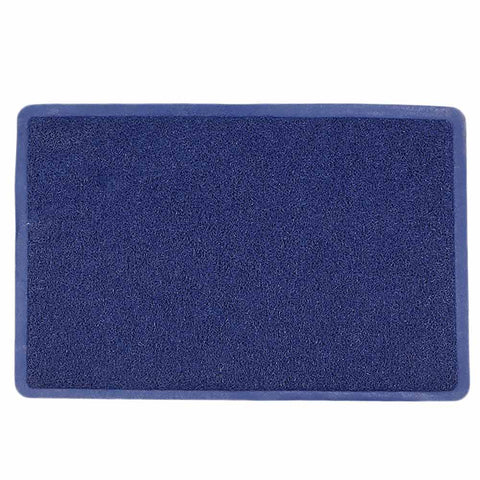 PVC Door Mat 15 x 22 - Blue