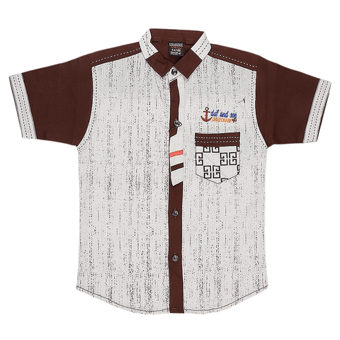 Boys Casual Shirt - Brown - test-store-for-chase-value