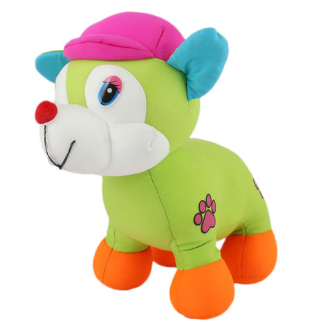 Stuffed Soft Been Dog Toy - Green