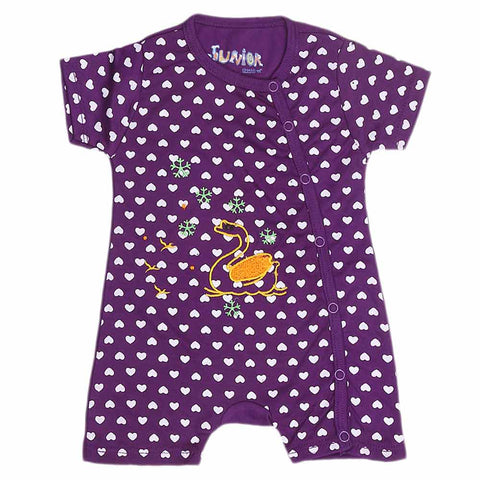 Newborn Girls Fancy Romper - Purple - test-store-for-chase-value