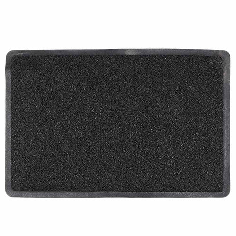 PVC Door Mat 15 x 22 - Black