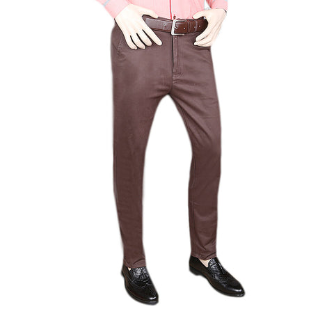 Men's Zara Cotton Pant - Dark Brown