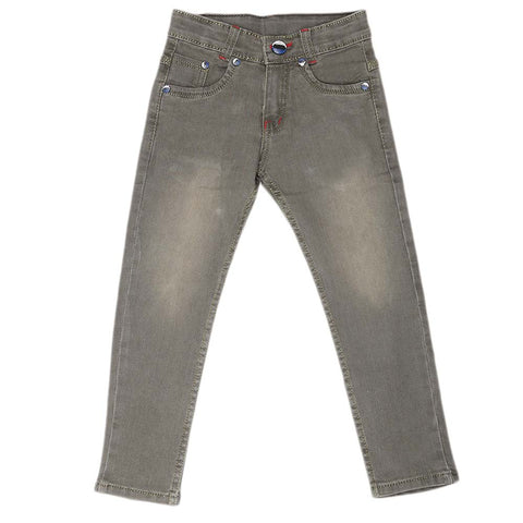 Boys Denim Pant - Olive Green