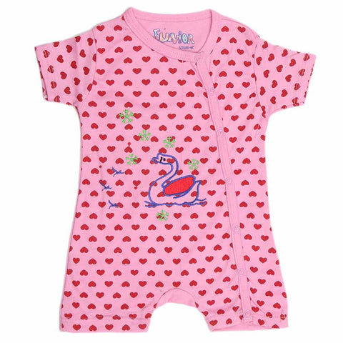 Newborn Girls Fancy Romper - Pink - test-store-for-chase-value
