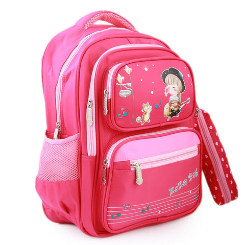 Kids School Bag (1679) - Pink