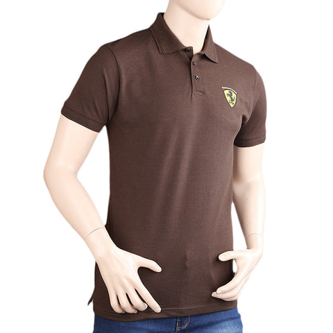 Men's Half Sleeves Polo Shirts - Brown