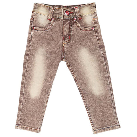 Boys Denim Pant - Brown
