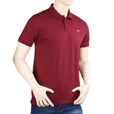 Men's Half Sleeves T-Shirt - Maroon