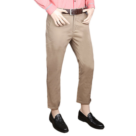 Eminent Cotton Chino Pant For Men - Beige