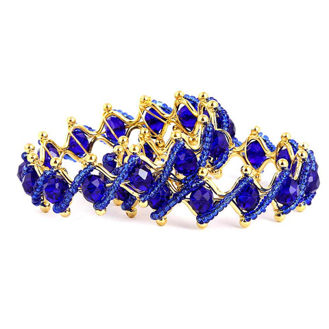 Girl's Fancy Bangles 2 Pcs - Royal Blue - test-store-for-chase-value