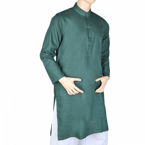 Men's Basic Kurta - Dark Green