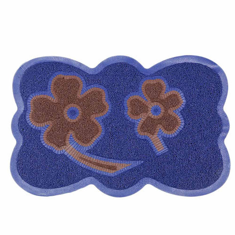 PVC Door Mat 14 x 22 - Blue