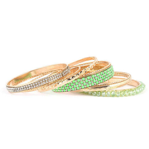 Women's Fancy Bangles 11 Pcs - Green - test-store-for-chase-value