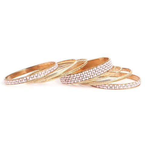 Women's Fancy Bangles 13 Pcs - Pink - test-store-for-chase-value