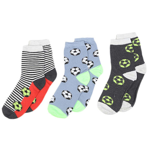 Boys Socks Packs of 3 - Multi