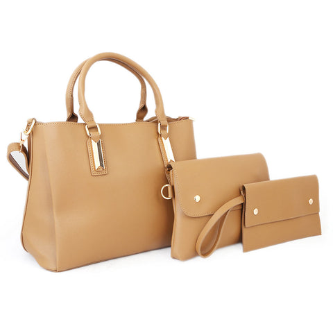 Women's Handbag 3Pcs 8842 - Apricot