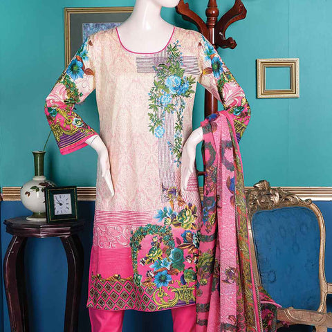 Abelia Embroidered Lawn 3 Piece Un-Stitched Suit - Asteria A4