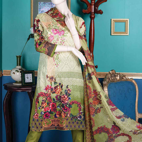 Abelia Embroidered Lawn 3 Piece Un-Stitched Suit - Asteria B4