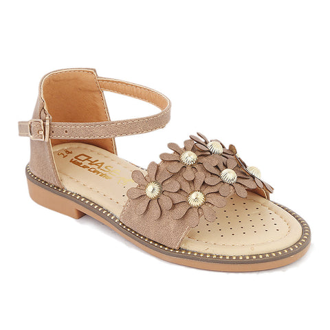 Girls Fancy Sandal (B-97) - Brown