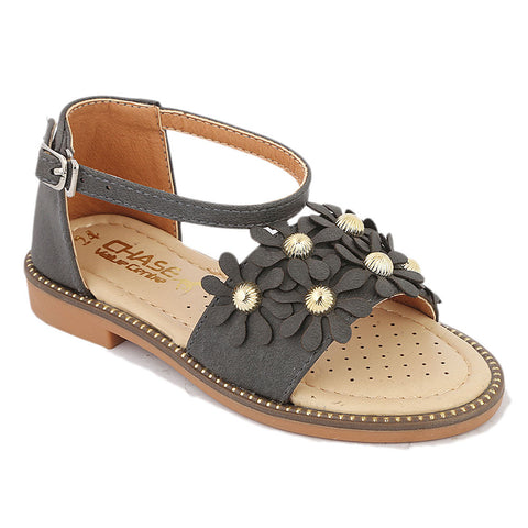 Girls Fancy Sandal  (B-97) - Black