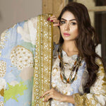 Libas Embroidered Printed Lawn 3 Piece Un-Stitched Suit Vol 1 - B1