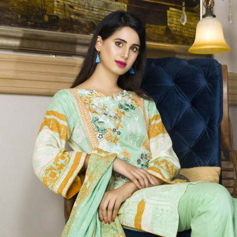 Libas Embroidered Printed Lawn 3 Piece Un-Stitched Suit Vol 1 - B4