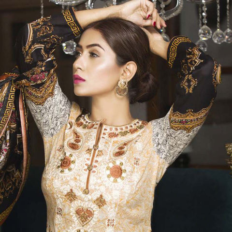 Libas Embroidered Printed Lawn 3 Piece Un-Stitched Suit Vol 1 - B7