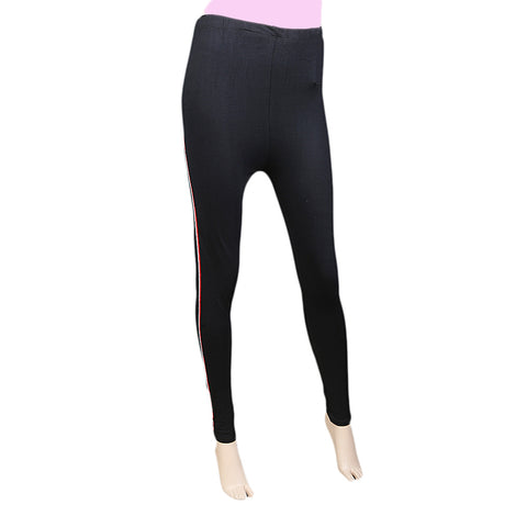 "Women's Side Lace Tight 39"" Black"