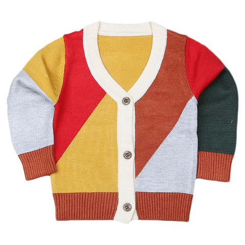 Newborn Boys Full Sleeves Sweater - Multi