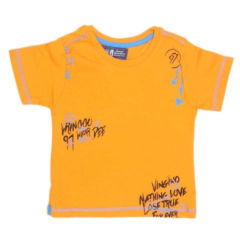 Boys Half Sleeves T-Shirt - Orange - test-store-for-chase-value