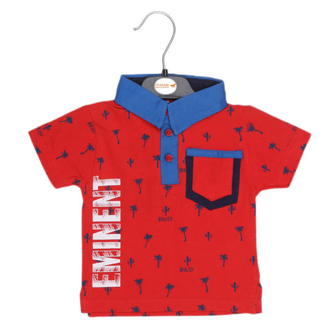 Eminent Newborn Boys T-Shirt - Red - test-store-for-chase-value