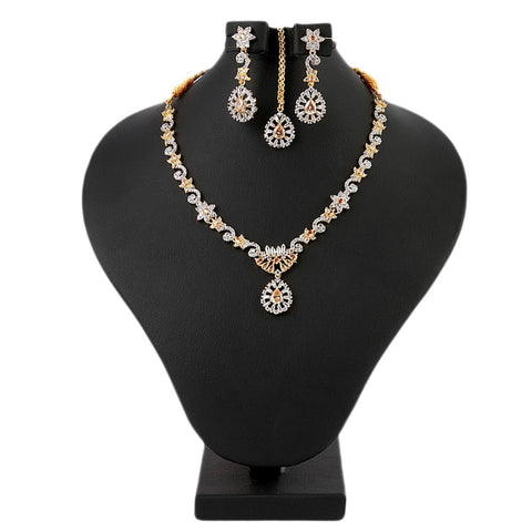 Women's Fancy Jewellery Set - Golden