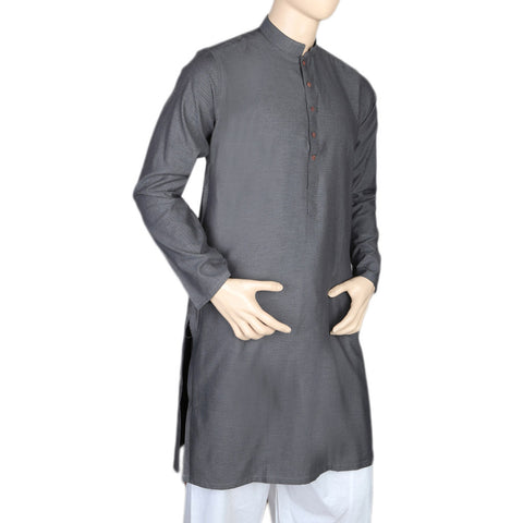 Eminent Trim Fit Kurta For Men - Black