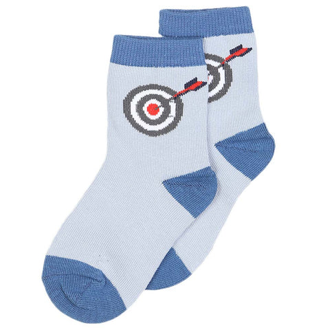 Boys Socks - Steel Blue