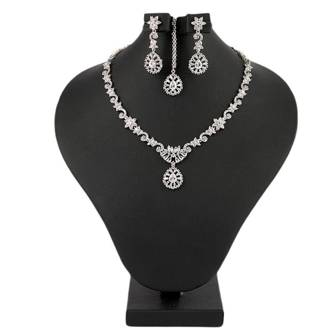 Women's Fancy Jewellery Set - Silver